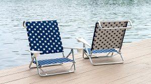 beach chairs on dock