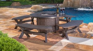 Outdoor Fire Pit and benches