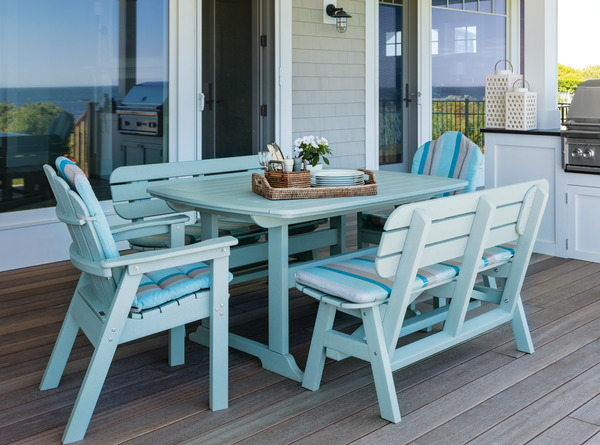 Seaside Classic Deck Chairs With Bench