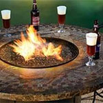 fire pit and beers