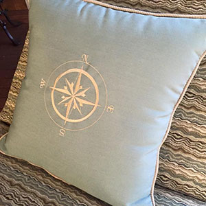 nautical toss pillow